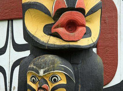 Totem Pole at Thunderbird Park