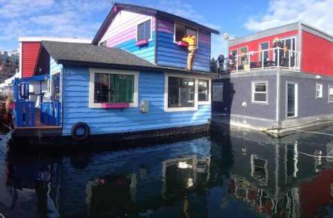 Float homes at Fisherman's Wharf