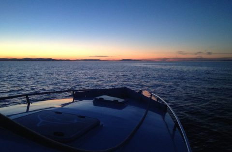 Sunset tour onboard Goldwing