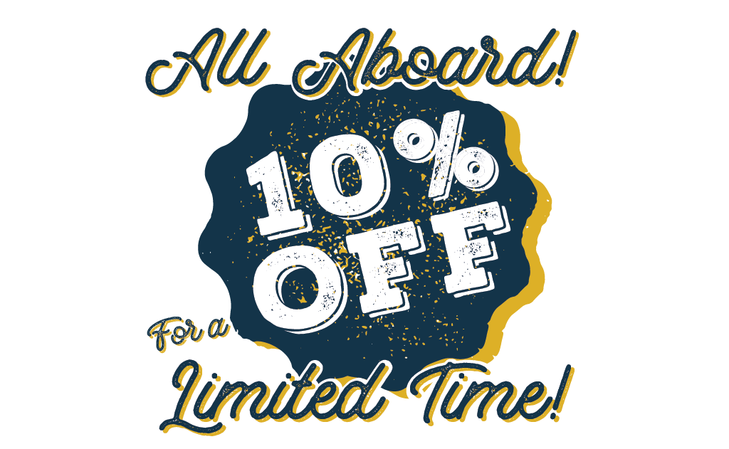 10% off for a limited time